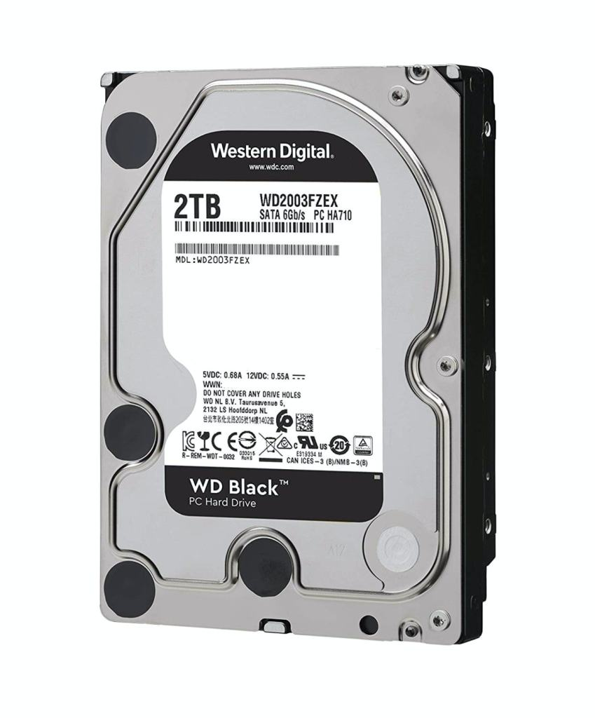 Western Digital Black 2 TB - 7200 RPM SATA 6 GB/s 64MB Cache 3.5""