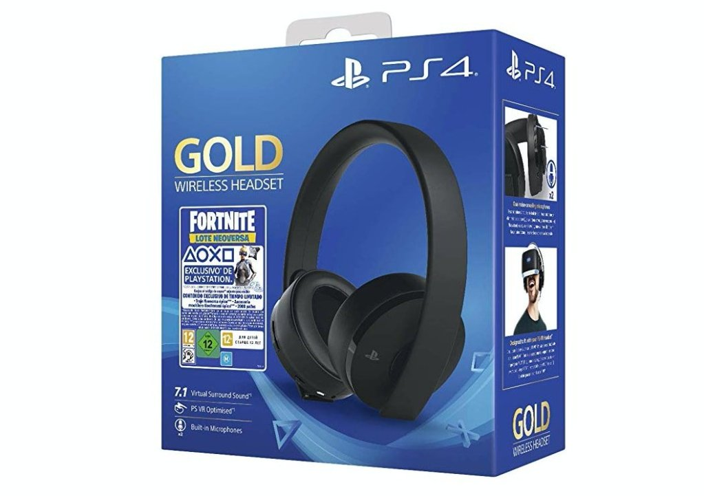 Sony - Gold Edición Headset Fortnite VCH 2019 (PS4)