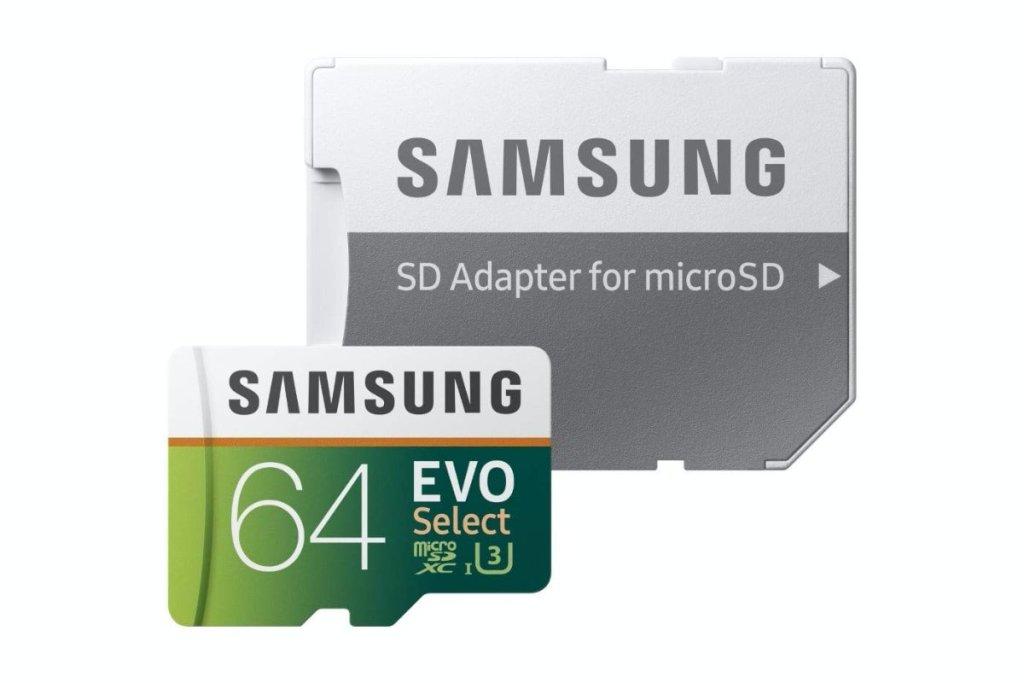Samsung EVO Select - Tarjeta de Memoria microSDXC de 64 GB con Adaptador SD