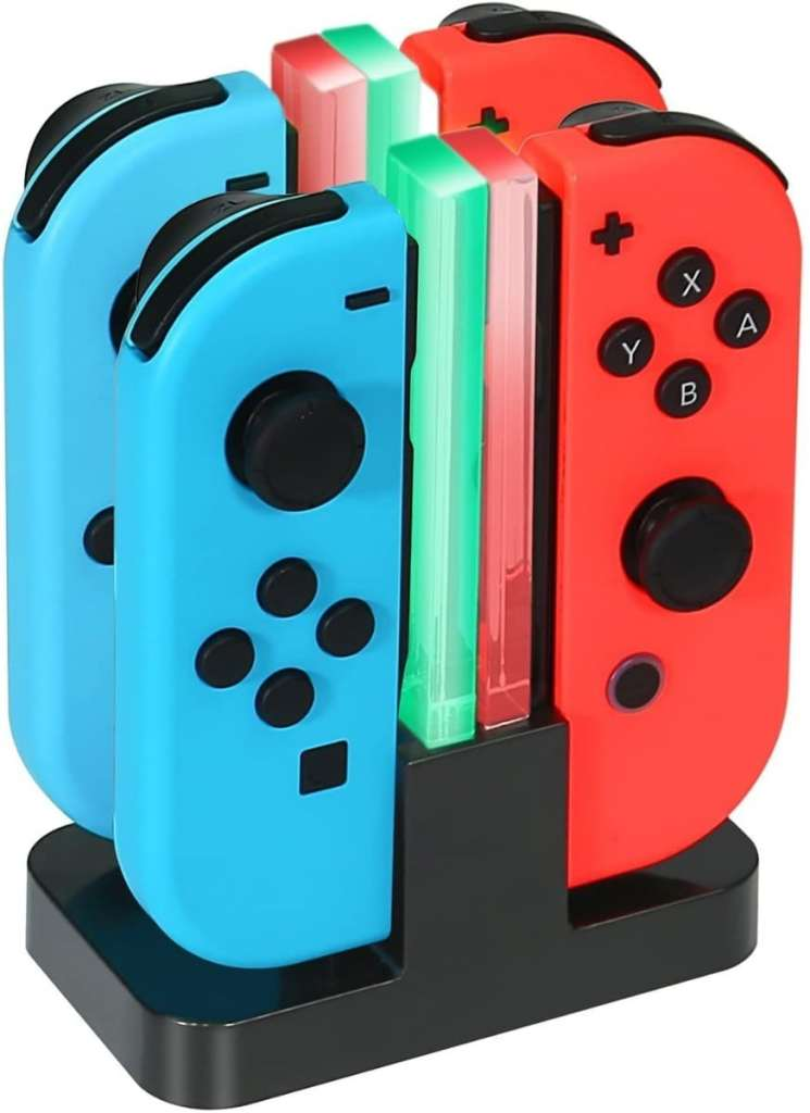 Base de Carga 4 en 1 para los Nintendo Switch Joy-Con de KINGTOP