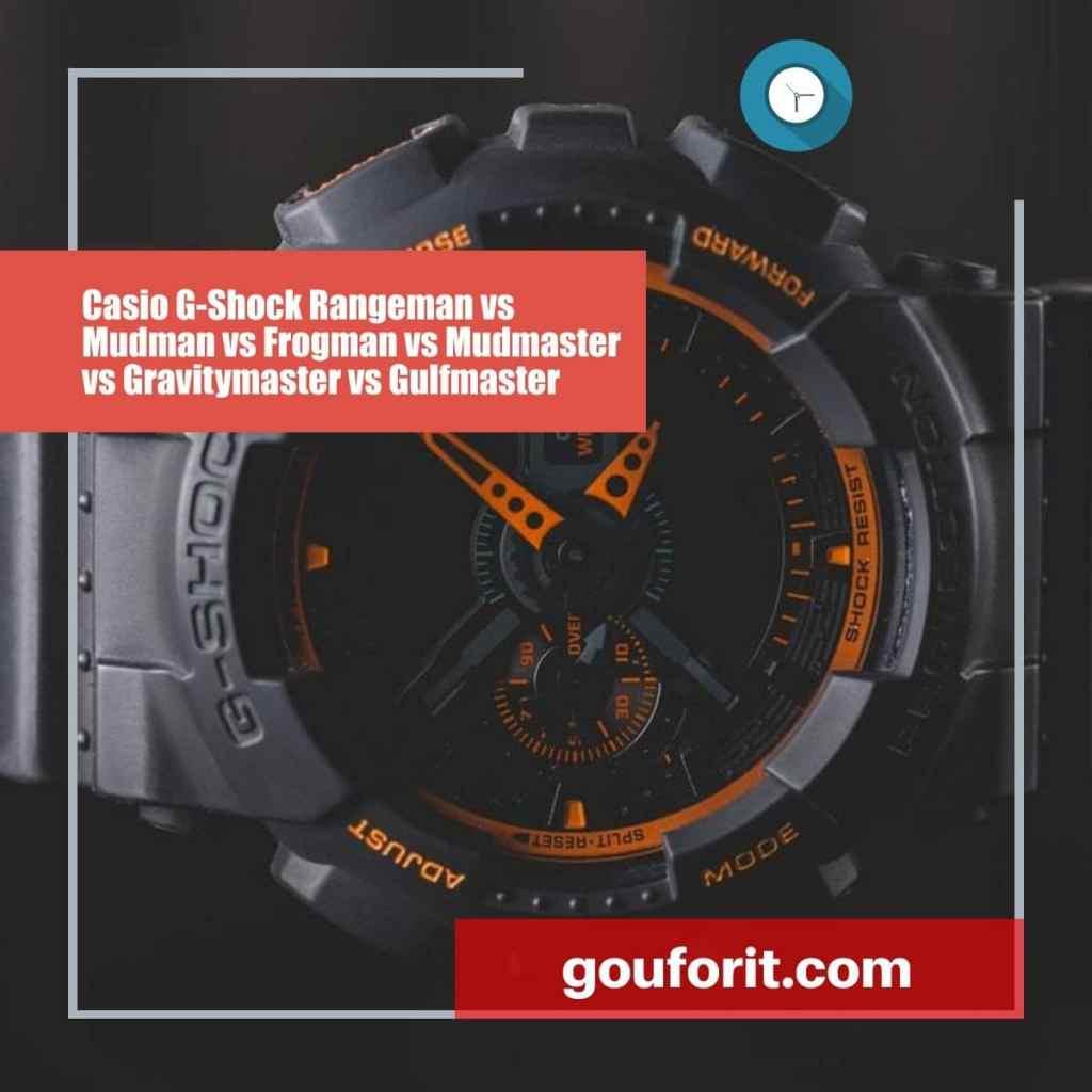 Casio G-Shock Rangeman vs Mudman vs Frogman vs Mudmaster vs Gravitymaster vs Gulfmaster