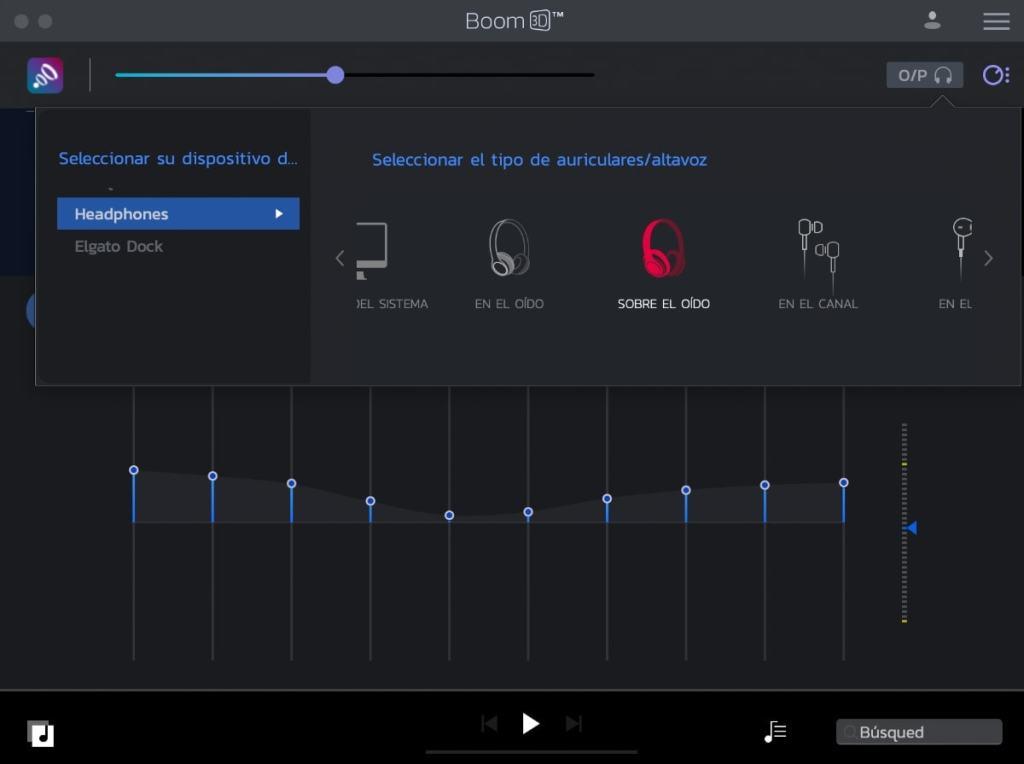 boom 3D tipo dispositivos: auriculares, altavoces