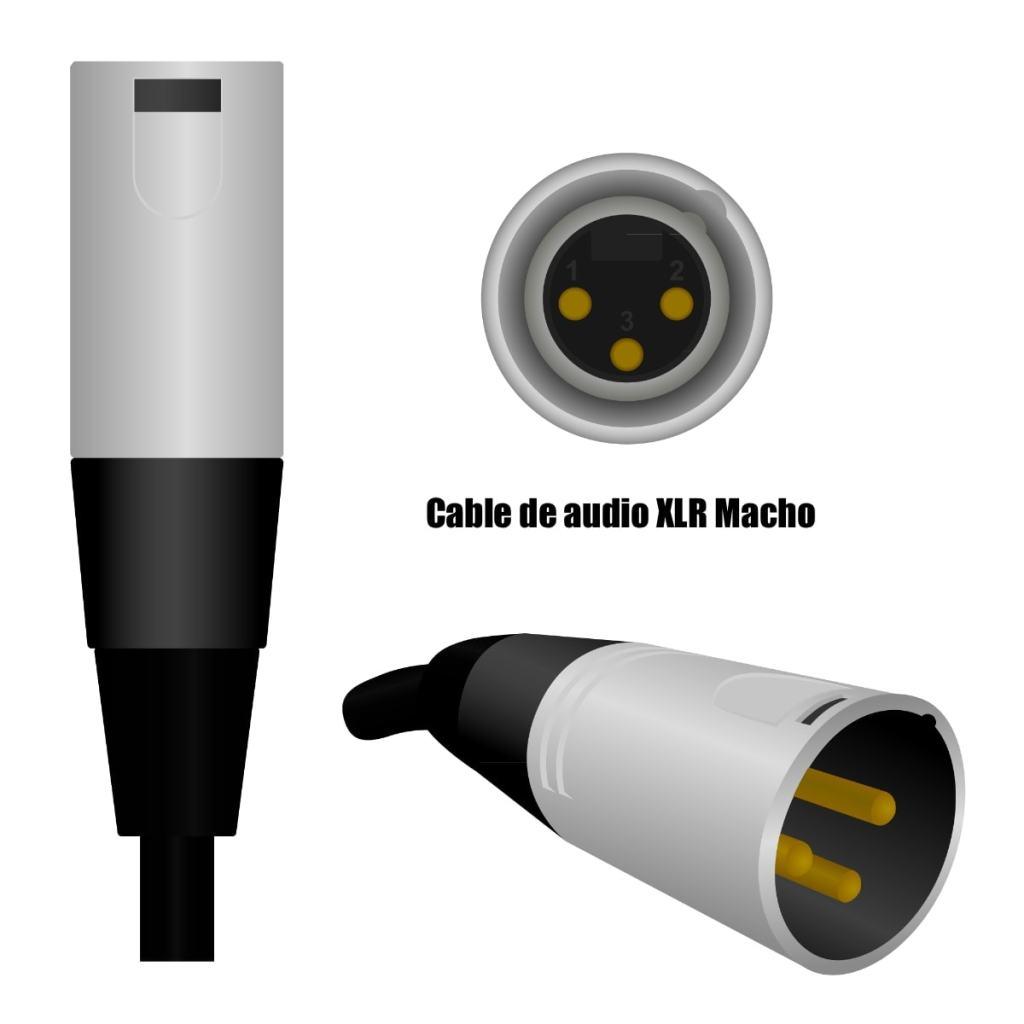 Cables de audio XLR Macho