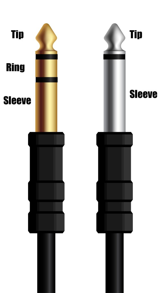 Cables de audio TS, TRS: Tip/Sleeve, Tip/Ring/Sleeve