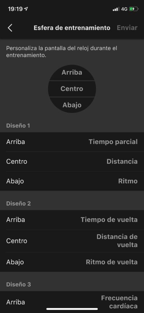 Casio G-Shock GBD-H1000: cambios datos en esfera