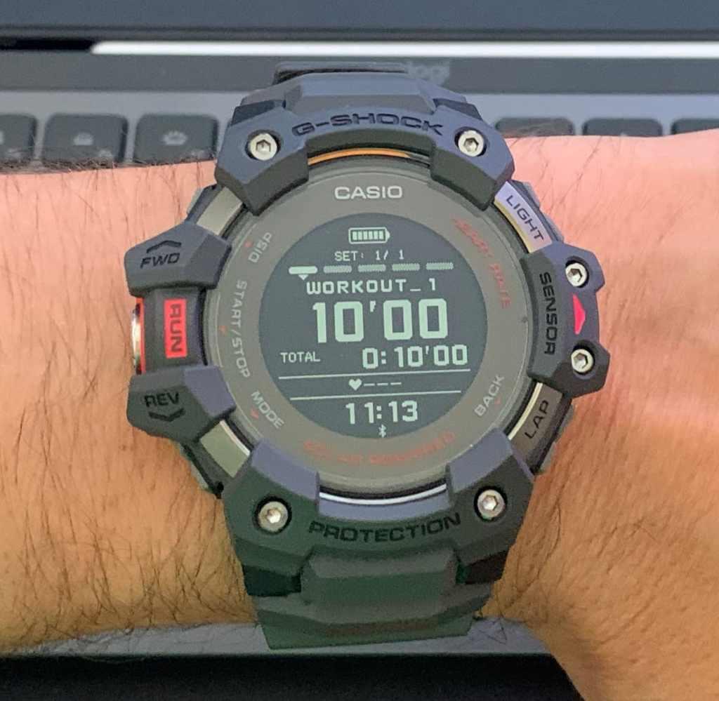 Casio G-Shock GBD-H1000: Interface