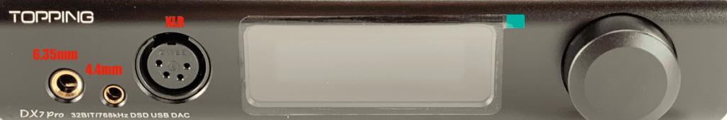 Conexiones audio en un DAC/amplificador de Topping