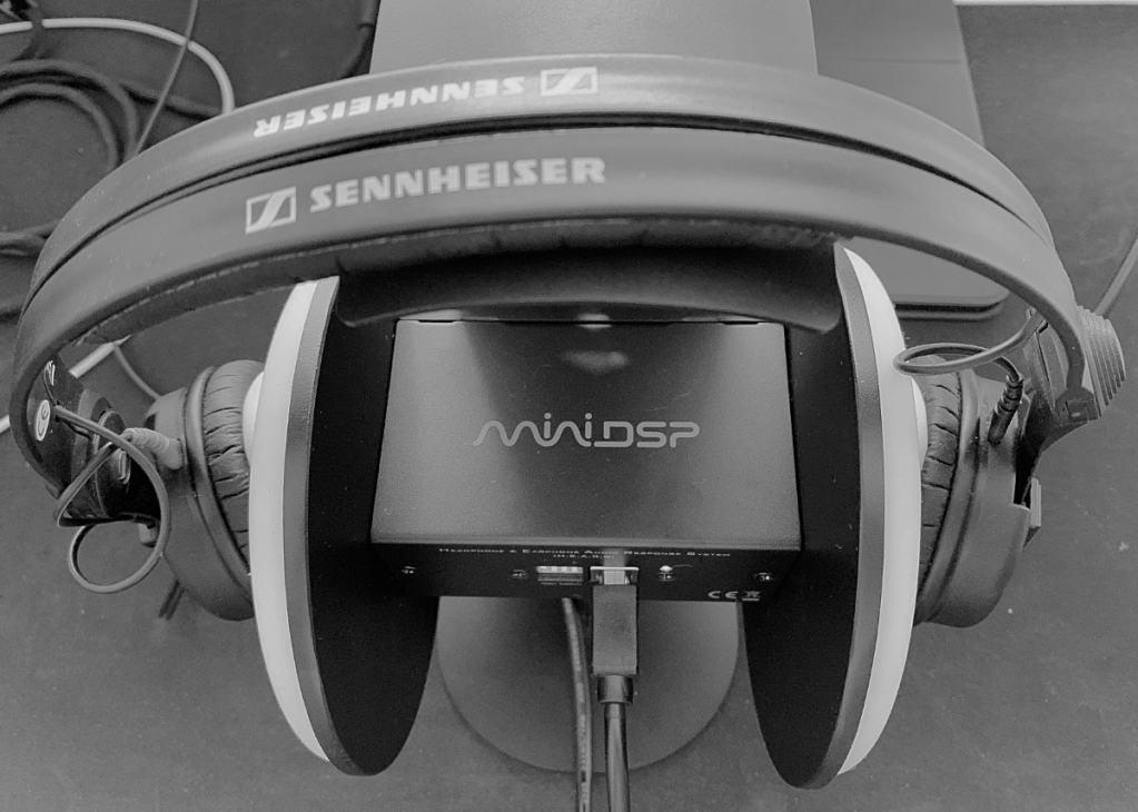 Sennheiser HD 25-1 II: Respuesta de frecuencia (SPL) con MiniDSP EARS
