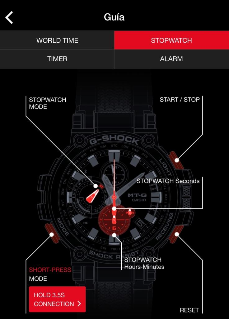 casio g-shock mtg-b1000 app G-shock Connected
