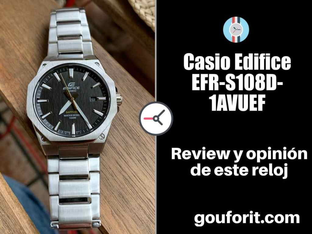 asio Edifice EFR-S108D-1AVUEF - Opinión y review