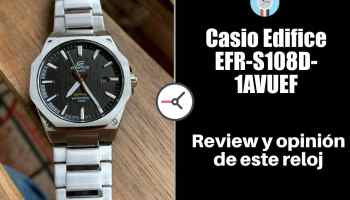 asio Edifice EFR-S108D-1AVUEF - Opinión y review