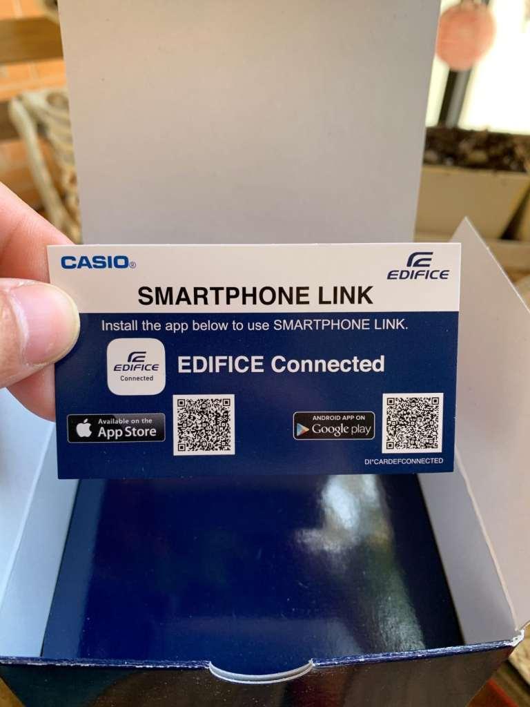 Configuración de un Casio EDIFICE Bluetooth
