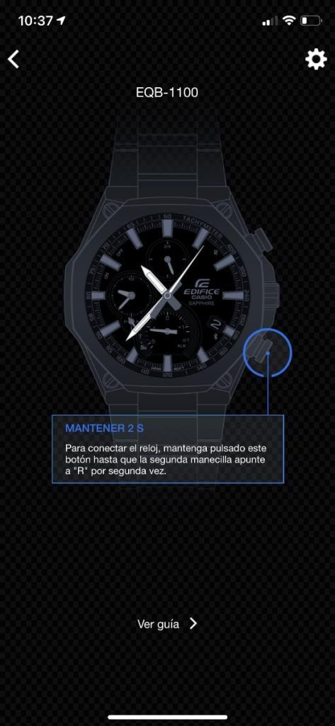 Casio Edifice Connected app