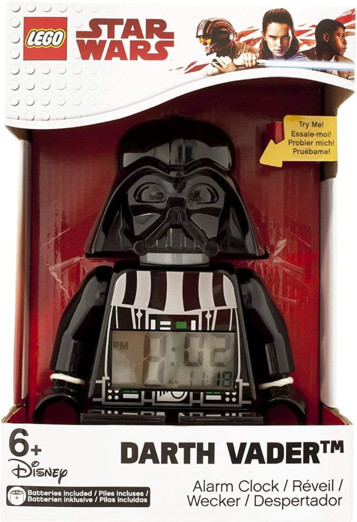 LEGO Despertador con luz Infantil con figurita de Darth Vader Star Wars
