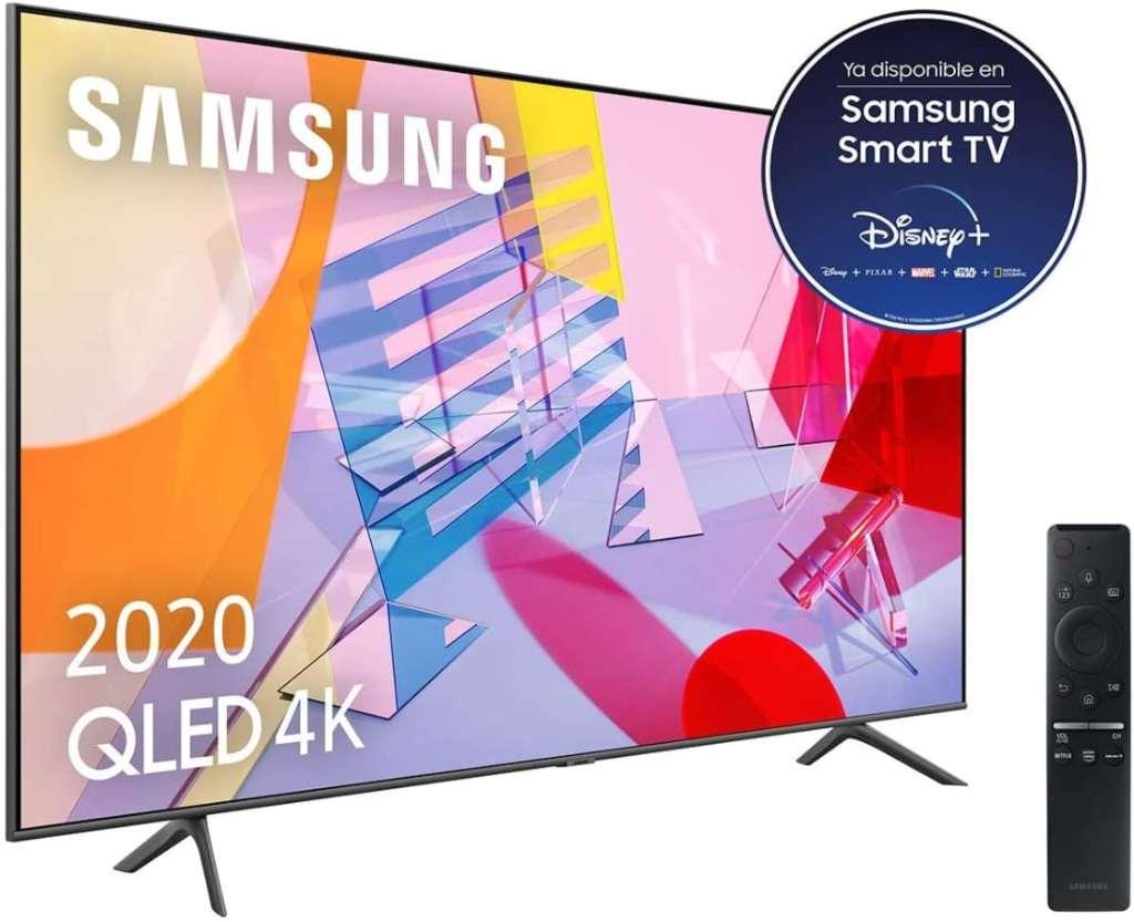 "Samsung QLED 4K 2020 55Q60T - Smart TV de 55"" con Resolución 4K UHD"