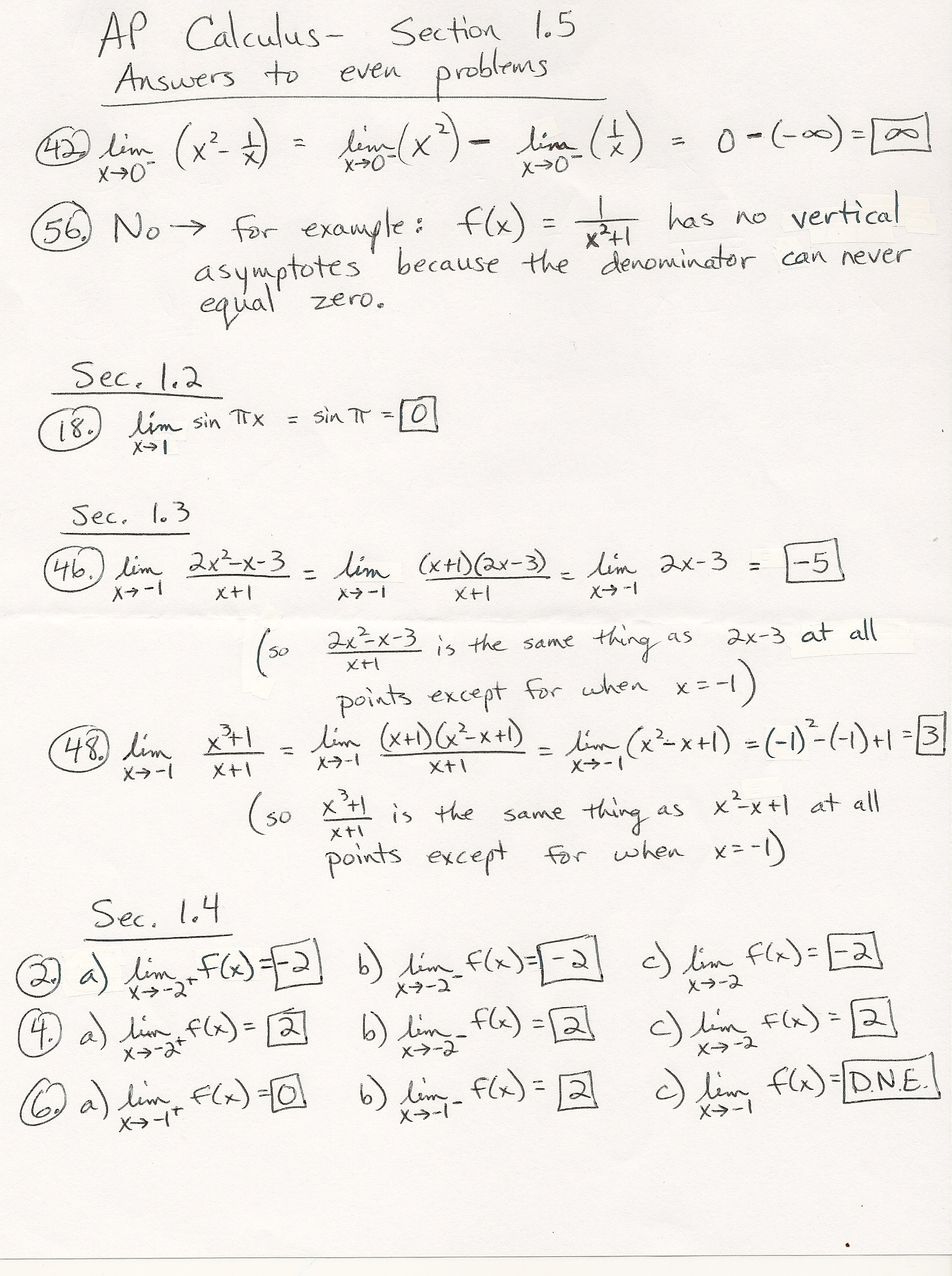 Unit 1 Answers To Even Problems