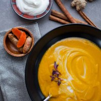 Ginger, Turmeric Spiced Spring Carrot Soup Recipe