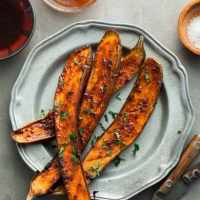 Honey Harissa Roasted Eggplant