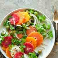 Orange, Olive and Fennel Salad (Paleo, Vegan)