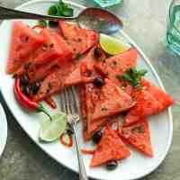 Watermelon Salad with Chili and Mint (Paleo, Vegan)