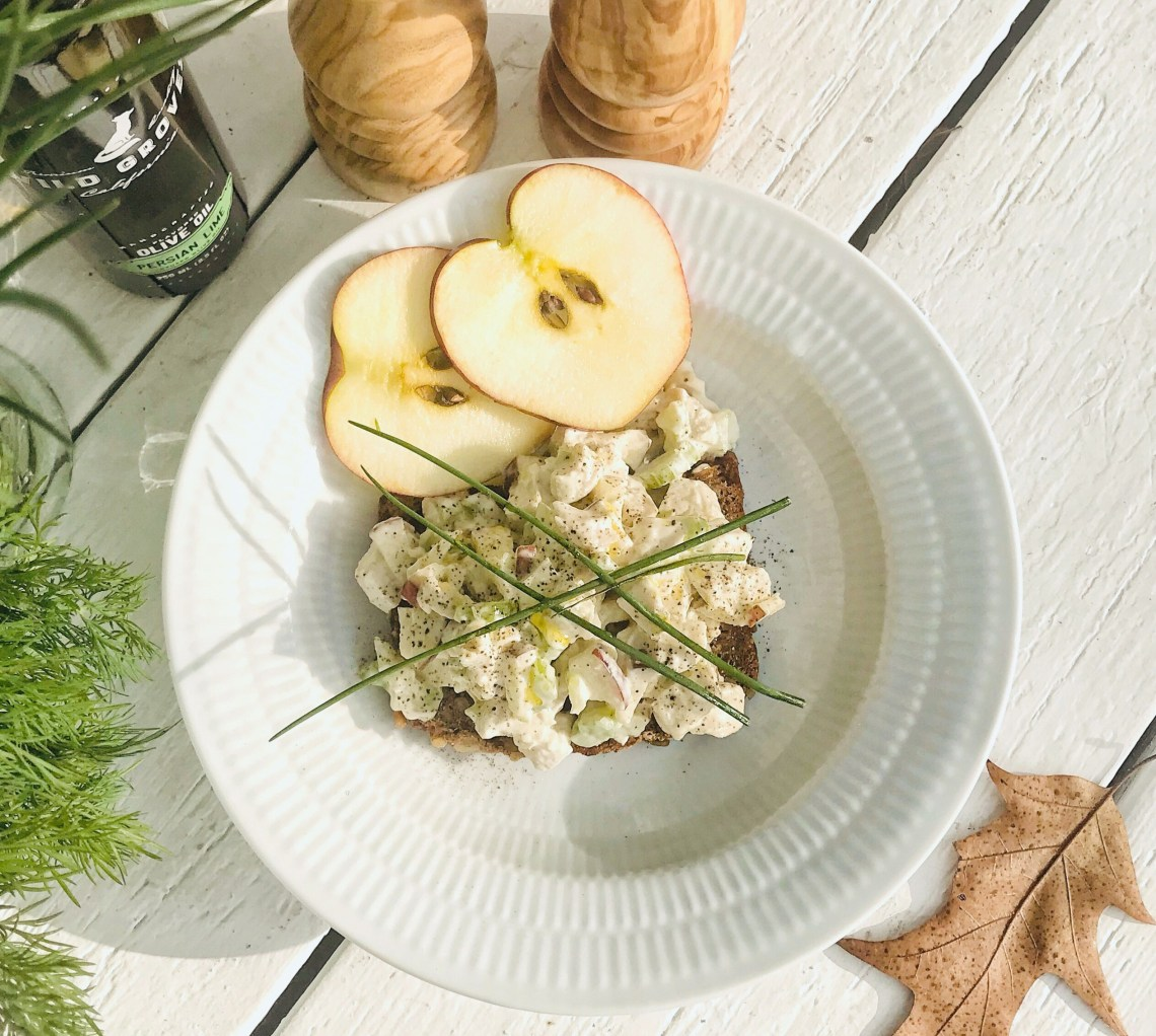 Chicken salad - crispy fresh chicken lunch with apples, celery and mayo