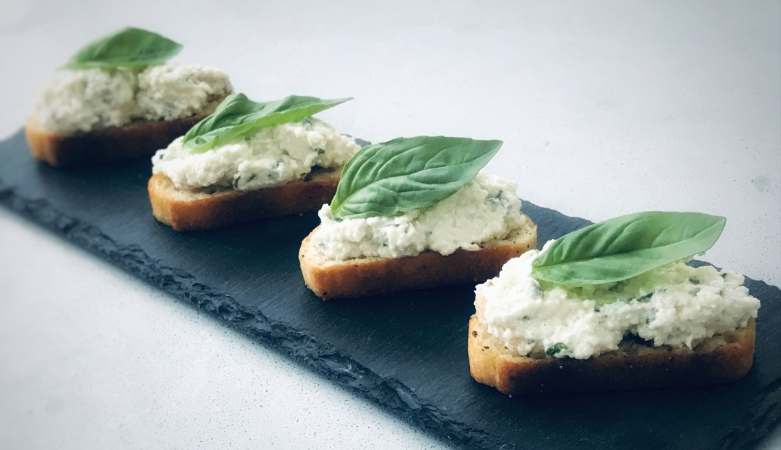 Little ricotta bites with basil, pine nuts, Parmesan and lemon - great appetizer