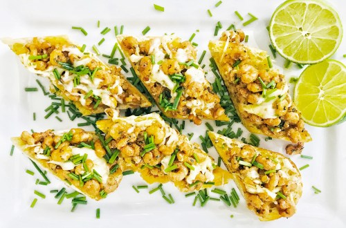 Cajun shrimp bread - appetizer