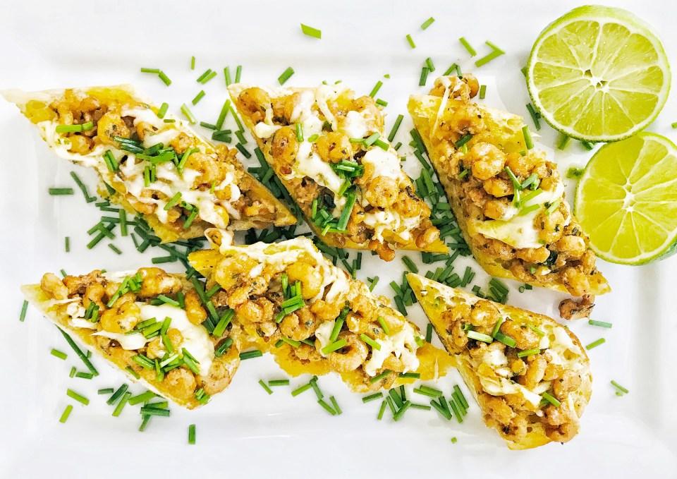 Cajun shrimp bread - appetizer