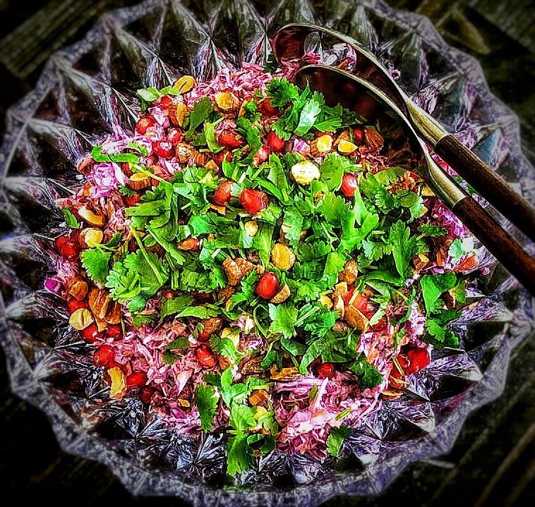 Indian coleslaw - coleslaw with a twist, perfect with Indian food or barbecue