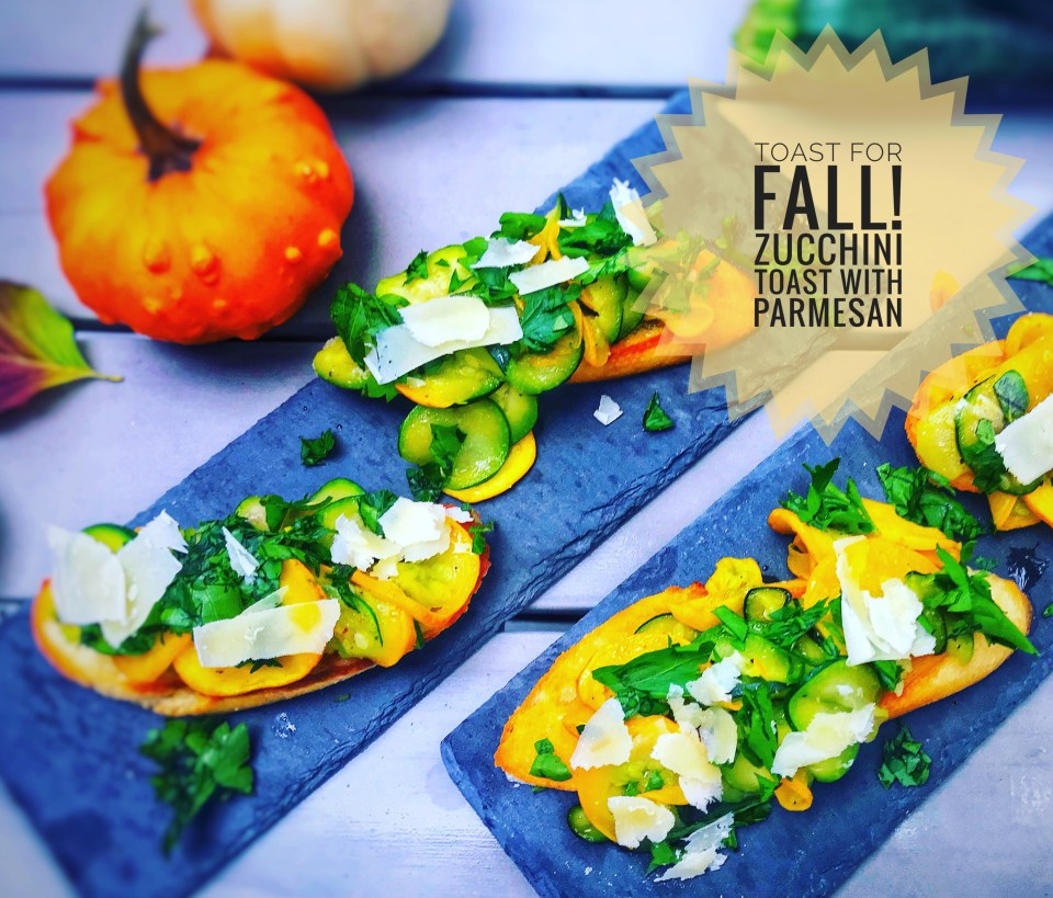 Delicious autumn recipes - zucchini toast with Parmesan