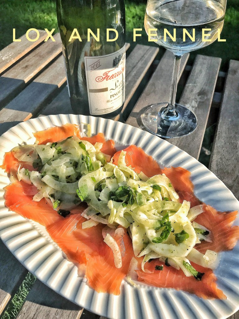 Lox and fennel marinated in lemon oil
