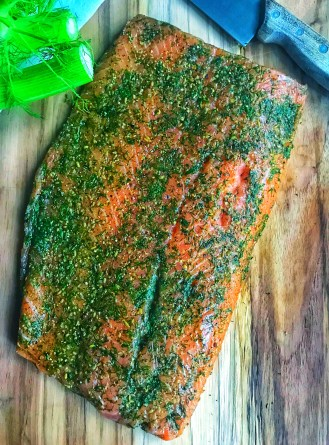 Gravlax or lox with dill