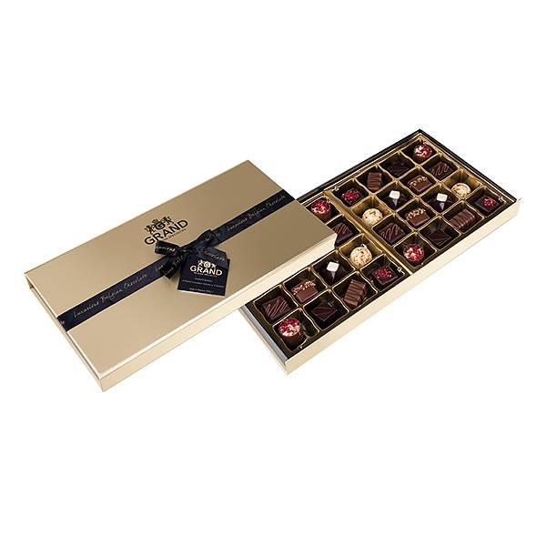 Chokladogram med praliner från belgiska Grand