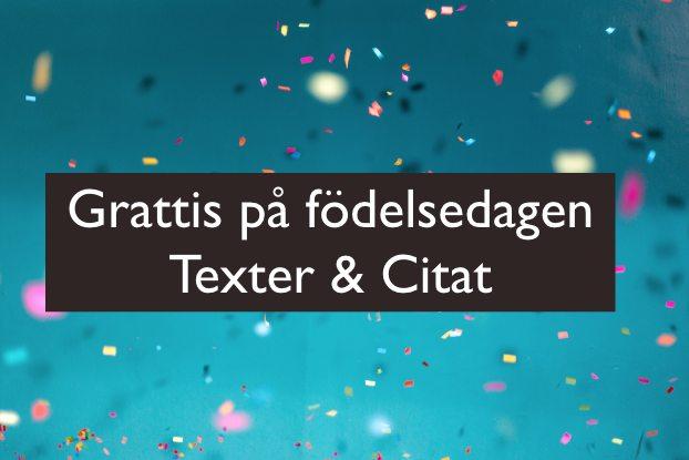 Grattis på födelsedagen fler texter