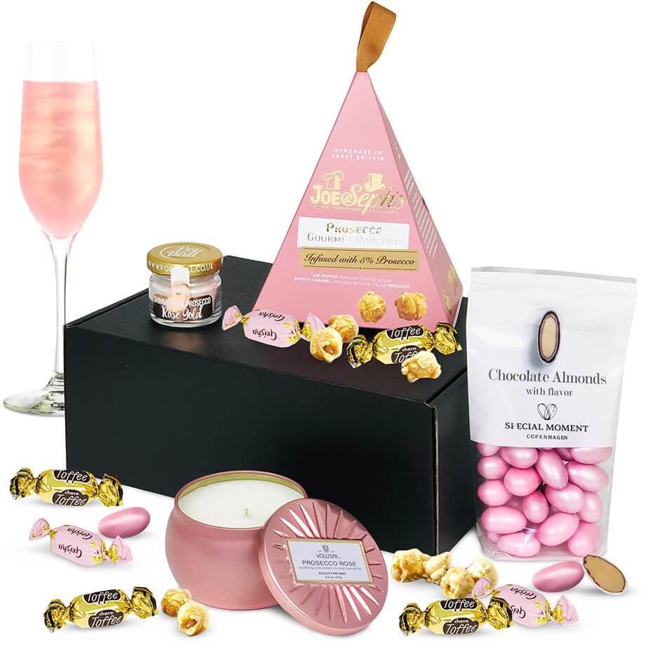 Presentkorg med champagne