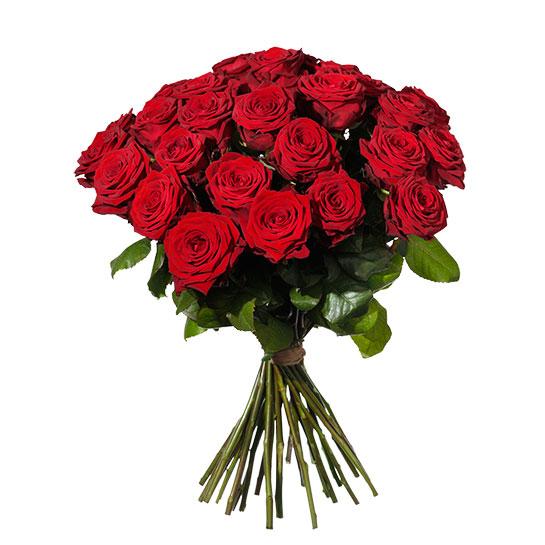 Rosbox 30 röda rosor