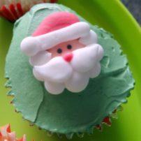Cupcake de Noël père noel