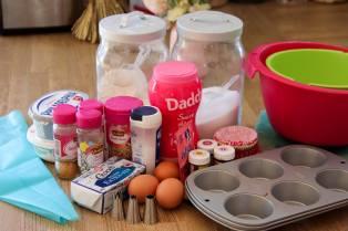 Ingrédients pour des cupcake facile à la vanille