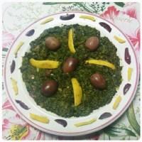 سلطة السبانخ , salade d'épinards