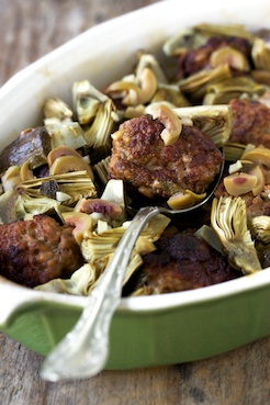 Meatballs & artichokes 1