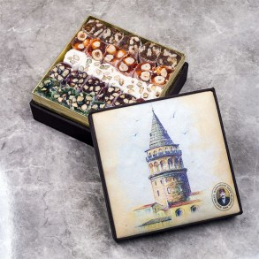 Hafız Mustafa HM1864 Luxury Mixed Turkish Delight Galata Tower Box