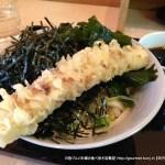 田そば(小伝馬町)で胡麻ラー油入り辛い盛りうどんを食べる