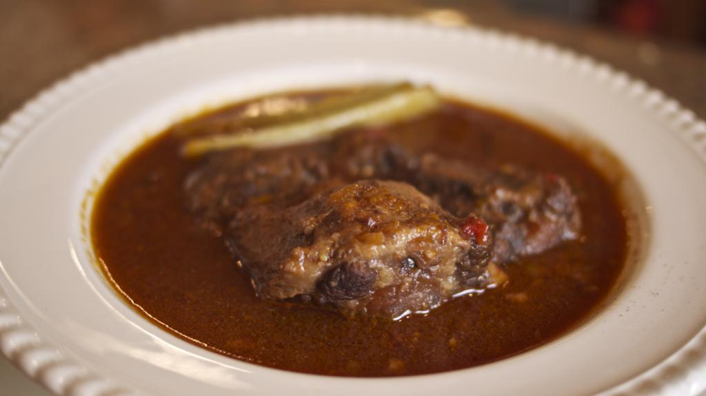 Oxtail Stew, Roman Style - Coda Alla Vaccinara