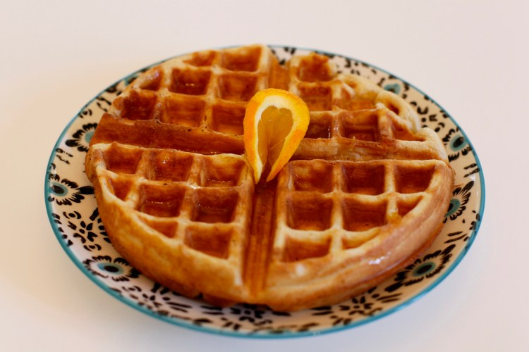Orange Clove Waffles