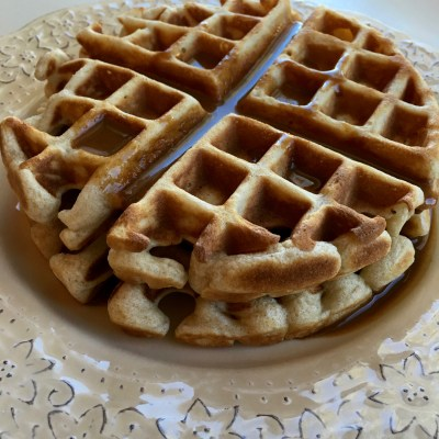 Cinnamon Waffles with Cinnamon Cream Sauce