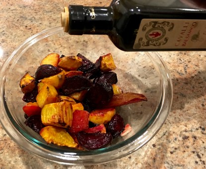 add balsamic vinegar to beets