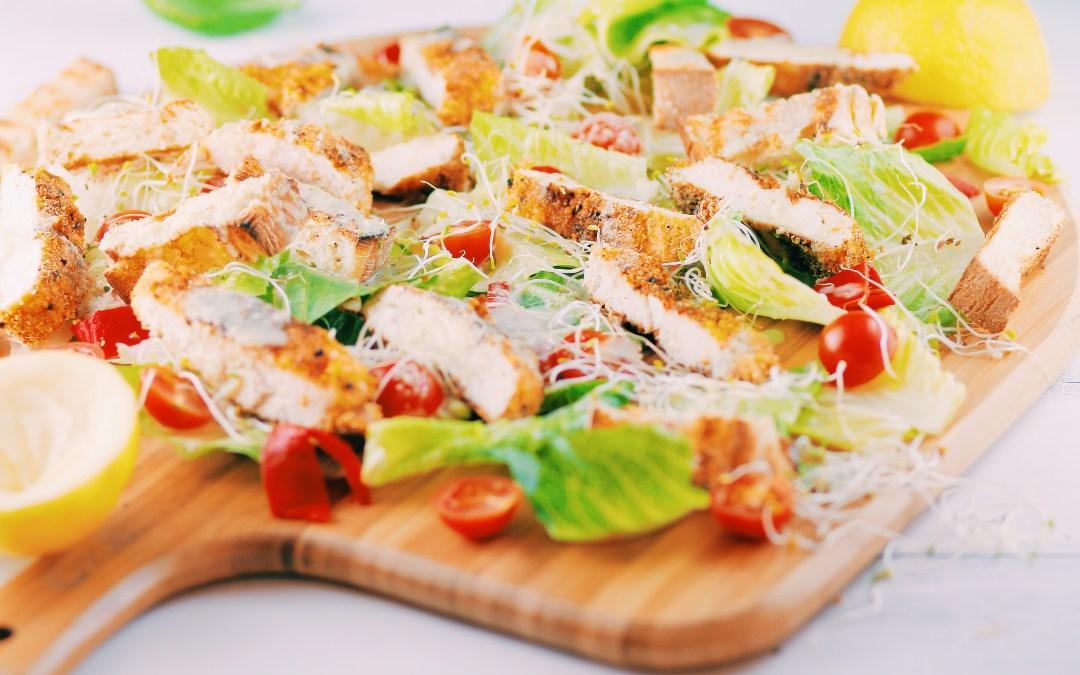 Crispy Polenta Chicken With Caesar Salad