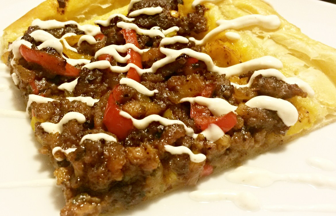 30 Minute Meal: Sausage Puff Pastry Pizza