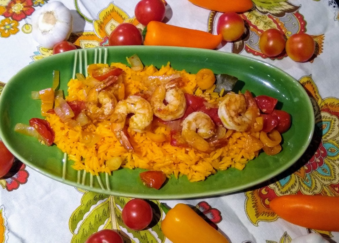 Shrimp & Yellow Rice #ComfortFood
