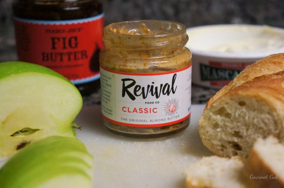 Gourmet Gab Revival Almond Butter Bruschetta